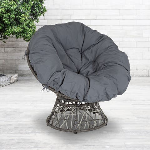 Bowie Comfort Series Swivel Patio Chair with Cushion