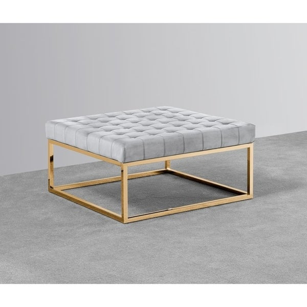 Best Master Furniture Grey Gold Ottoman Coffee Table