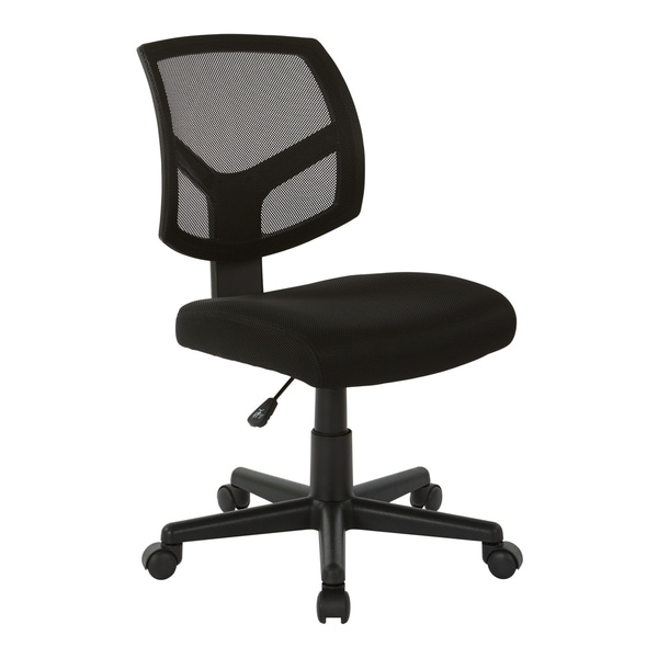 Office Star Work Smart Screen Back Task Chair with Black Fabric Seat