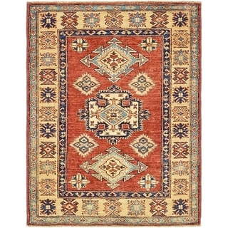 Hand Knotted Kazak Wool Area Rug - 2' 9 x 3' 7