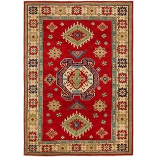 Hand Knotted Kazak Wool Area Rug - 7' x 9' 10