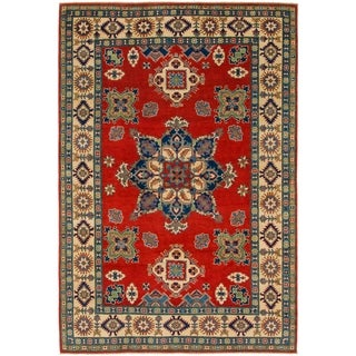 Hand Knotted Kazak Wool Area Rug - 6' 8 x 10'