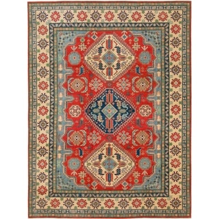 Hand Knotted Kazak Wool Area Rug - 9' x 12'
