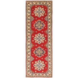 Hand Knotted Kazak Wool Runner Rug - 2' 8 x 8' 2