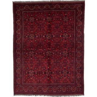 Hand Knotted Khal Mohammadi Wool Area Rug - 5' 10 x 7' 8