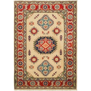 Hand Knotted Kazak Wool Area Rug - 3' 5 x 5'