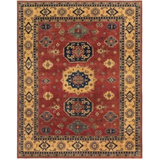 Hand Knotted Kazak Wool Area Rug - 9' x 11' 3