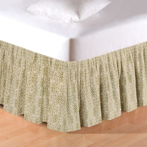 Althea Ruffled Cotton Bed Skirt