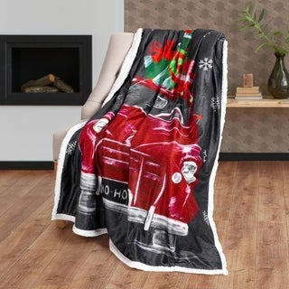 Christmas Throw Photoreal 50X60 North Pole Truck Ultra Soft