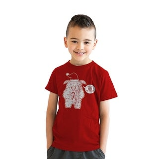 Youth Lets Get Yeti For Christmas Tshirt Cute Holdiay Tee For Kids