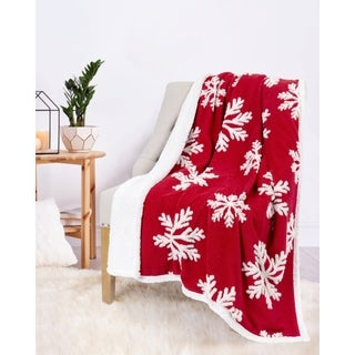 Christmas Throw Snowflakes 50X60 Red Ultra Soft