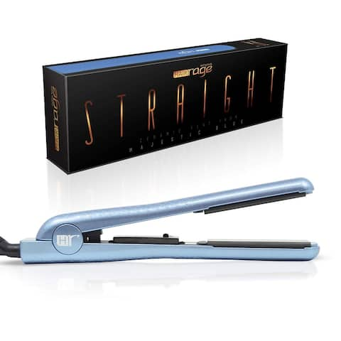 Hair Rage Pearlescent Edition 1.25 Inch Professional Ceramic Tourmaline Hair Straightening Flat Iron (Pearlescent Blue)