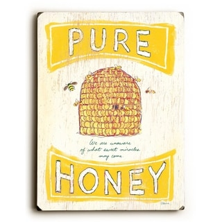 Pure Honey -  9x12 Solid Wood Wall Decor by FLAVIA