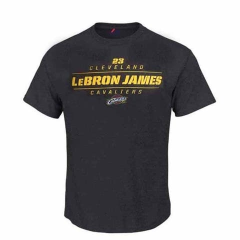 Majestic Youth Lebron James Spectrum Retro T - Charcoal Grey