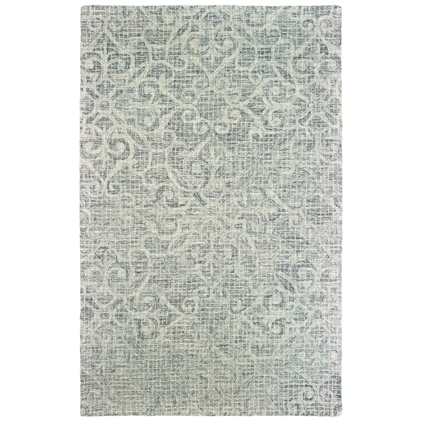 """Silver Orchid Borden Floral Hand-tufted Wool Area Rug - 3'6"""" x 5'6"""""""