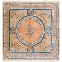 Hand Knotted Kerman Antique Wool Square Rug - 10' x 10' 4