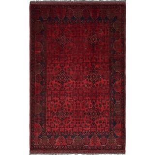 Hand Knotted Khal Mohammadi Wool Area Rug - 4' 3 x 6' 7