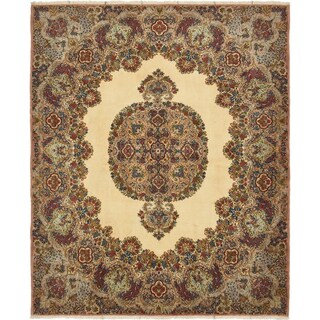 Hand Knotted Kerman Wool Square Rug - 6' 10 x 8'