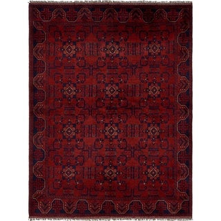 Hand Knotted Khal Mohammadi Wool Area Rug - 5' 9 x 7' 8
