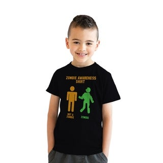 Youth Zombie Awareness Tshirt Funny Haloween Undead Tee For Kids