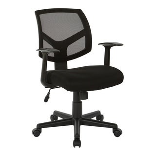 "Task Chair with ""T"" Arms and Black Fabric Seat"