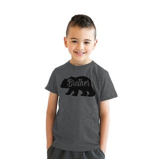 Youth Brother Bear Tshirt Cute Funny Family Sibling Tee For Kids