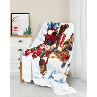Christmas Throw 50X60 Gift Puppies Ultra Soft