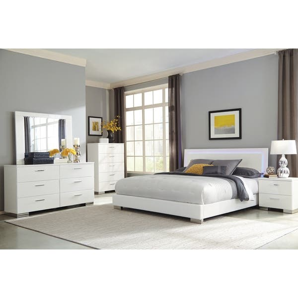 Shop Strick & Bolton Alice White 4-piece Bedroom Set with ...