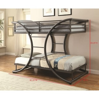 Taylor & Olive Chicot Contemporary Gunmetal Twin-over-twin Bunk Bed