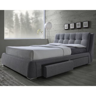 Strick & Bolton Enid Grey Storage Bed