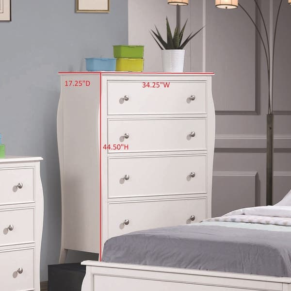 Shop Copper Grove French Country White 4-piece Bedroom Set ...