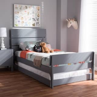 Taylor & Olive White Oak Twin Bed with Trundle