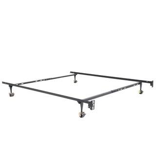 OSleep Standard Heavy Duty Adjustable Metal Bed Frame with Locking Rug Rollers