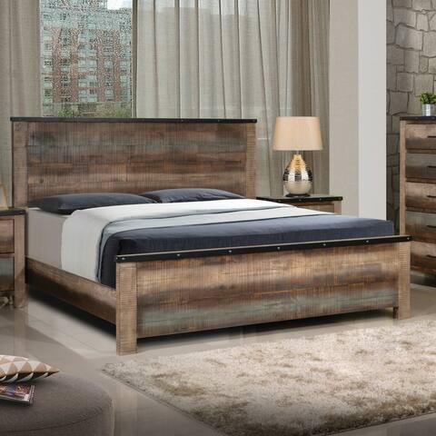 Carbon Loft Kiessling Rustic Antique Multi-color Bed