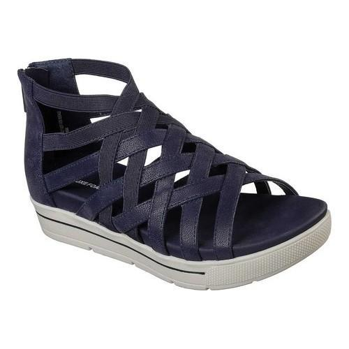 40bad9ade5e7 Shop Women s Skechers Cali Strut Sass N Swag Strappy Sandal Navy - Free  Shipping Today - Overstock - 19989038