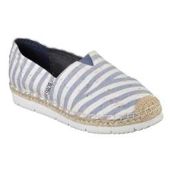 Women's Skechers BOBS Flexpadrille 2 Charter Party Alpargata Natural/Blue