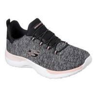 Women's Skechers Dynamight Break-Through Bungee Lace Sneaker Black/Coral