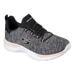 Women's Skechers Dynamight Break-Through Bungee Lace Sneaker Black/Coral