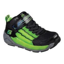 Boys' Skechers S Lights Light Storm Sneaker Black/Lime (More options available)
