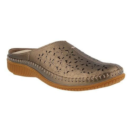 Women's Spring Step Parre Clog Bronze Leather