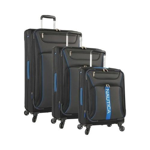 Nautica Bounty 3-Piece Luggage Set Black/Blue (One Size)