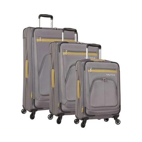 Nautica Brooklyn Bay 3-Piece Luggage Set Grey/Gold (One S...
