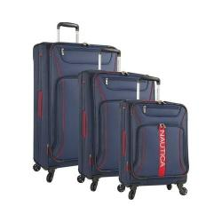 Nautica Bounty 3-Piece Luggage Set Classic Navy/Classic Red