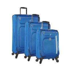 Nautica Washboard 3-Piece Luggage Set Cobalt/White