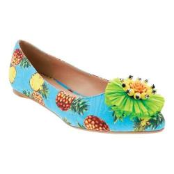 Women's Penny Loves Kenny Aurora Flat Blue Pineapple