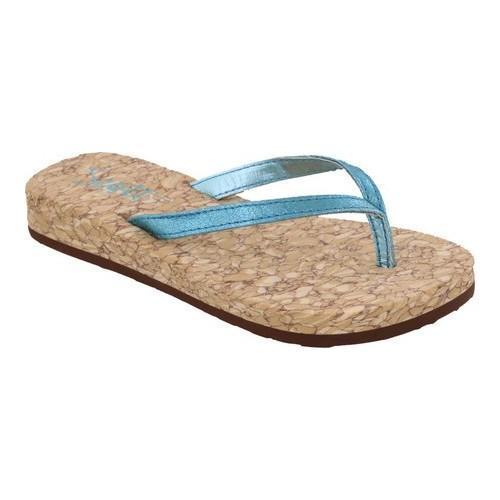 Girls' Scott Hawaii Alohi Flip Flop Blue Polyurethane (US...