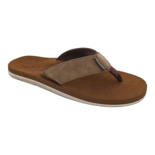 Men's Scott Hawaii Kapena Flip Flop Brown Polyurethane Leather