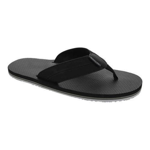 Men's Scott Hawaii Makoa Flip Flop Black Polyurethane Leather