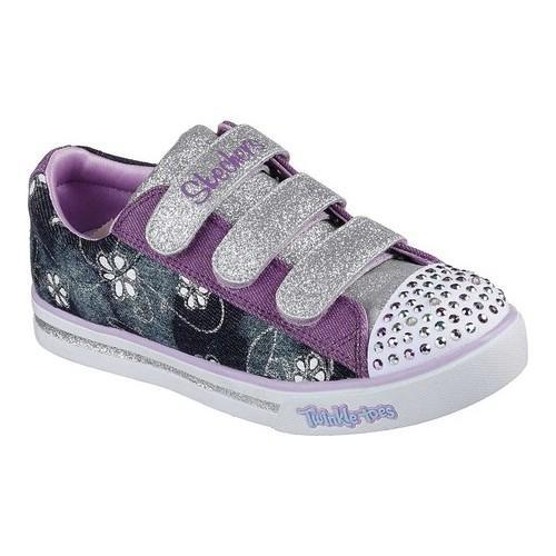 a39659743932 Shop Girls  Skechers Twinkle Toes Sparkle Glitz Denim Daisy Sneaker Denim -  Free Shipping On Orders Over  45 - Overstock - 20001209