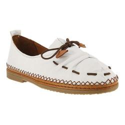 Women's Spring Step Berna Slip On White Leather